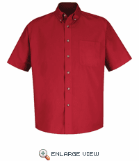 1T22RD Short Sleeve Red Meridian Preformance Twill Shirt