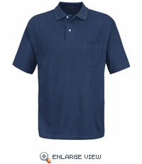 7702NV Navy Polo Basic Pique With Pocket