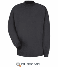 8301BK Black Long Sleeve Mock Turtleneck