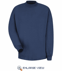 8301NV Navy Long Sleeve Mock Navy Turtleneck