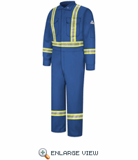 CLBCRB Royal Blue Premium Coverall with CSA Compliant Reflective Trim