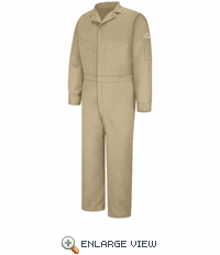CLD4KH 6 oz. EXCEL FR Flame-resistant Khaki Deluxe Coverall
