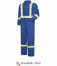 CMBCRB Premium Royal Blue Coverall with Reflective Trim - 7 oz. CoolTouch II