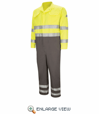 "CMDCHG Deluxe Colorblocked Coverall with 2"" Reflective Trim - CoolTouch® 2 - 7 oz."