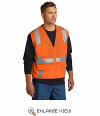 CSV104 CornerStone® ANSI 107 Class 2 Mesh Six-Pocket Zippered Vest