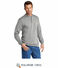 CTK128 Carhartt® Long Sleeve Henley T-Shirt