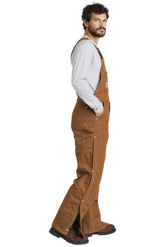 fa602b832e ... Carhartt ® Duck Quilt-Lined Zip-To-Thigh Bib Overalls (2 Colors