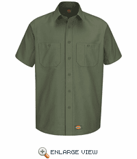 Dickies Short Sleeve Olive Green Workshirt WS20OG
