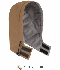 HLH4BD Brown Duck Universal  Fit Snap-on Hood - Excel FR® Comfortouch®
