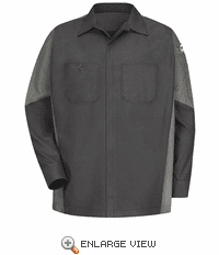 KB10CG Kubota Charcoal/Grey Long Sleeve Technician Crew Shirt