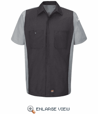 KB20CG Kubota Charcoal/Grey Short Sleeve Technician Crew Shirt