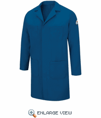 Bulwark KNL6RB Nomex IIIA Flame-resistant Royal Blue Concealed Snap Front Lab Coat - CAT 1
