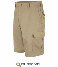 PC86KH Men's Khaki Cotton Cargo Short