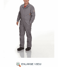 QC10GY Premium - iQ Series® Grey Endurance Flame Resistant Coverall