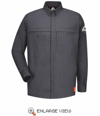QS22CH iQ Series® Charcoal Comfort Woven Concealed Pocket Shirt