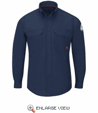 QS26NV IQ Series Men's Navy Midweight Comfort Woven Shirt