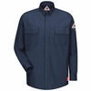 QS32DB iQ Series® Dark Blue Comfort Woven Long Sleeve Patch Pocket Shirt