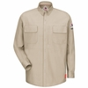 QS32LT iQ Series® Light Tan Comfort Woven Long Sleeve Patch Pocket Shirt