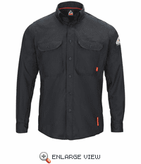 QS50NV iQ Series® Long Sleeve Comfort Woven Navy Lightweight Shirt
