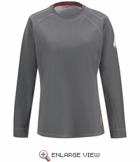 QTt31CH  iQ Series® Comfort Knit Women's Charcoal Long Sleeve Tee