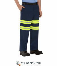 Red Kap PT20EN Enhanced Navy Industrial Pants with Reflective Trim