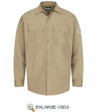 SEW2KH Excel-FR™ Khaki Flame Resistant Button Front Work Shirt