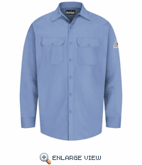 SEW2LB Excel-FR™ Light Blue Flame Resistant Button Front Work Shirt