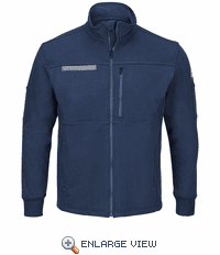 SEZ2NV Male Zip Front Fleece Navy Jacket-Cotton/Spandex Blend
