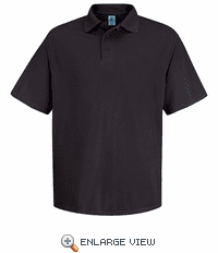 SK20BK Men's Black Short Sleeve Spun Polyester Pocketless Polo