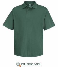 SK20HG Men's Hunter Green Short Sleeve Spun Polyester Pocketless Polo