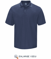 SK24NV Men's Navy Short Sleeve Spun Polyester Gripper-Front Polo