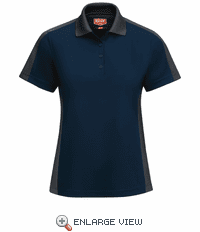 SK53NC Women's Short Sleeve Performance Knit® Navy/Charcoal Polo