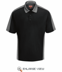 SK54BG Men's Black/Grey Short Sleeve Performance Knit® Two-Tone Polo