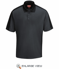 SK54CB Men's Charcoal/Black Short Sleeve Performance Knit® Two-Tone Polo