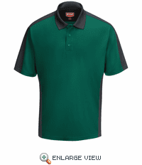 SK54HC Men's Hunter Green/Charcaol Short Sleeve Performance Knit® Two-Tone Polo