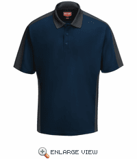 SK54NC Men's Navy/Charcaol Short Sleeve Performance Knit® Two-Tone Polo
