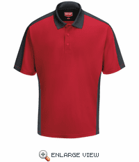 SK54RC Men's Red/Charcaol Short Sleeve Performance Knit® Two-Tone Polo