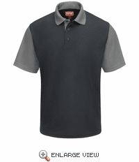 SK56CG Men's Short Sleeve Charcoal/Grey Performance Knit® Color-Block Polo