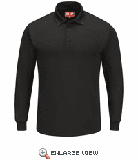 SK6LBK Men's Black Long Sleeve Performance Knit® Polo
