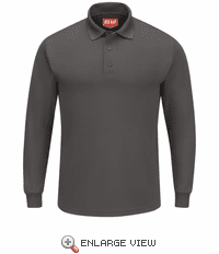 SK6LCH Men's Charcoal Long Sleeve Performance Knit® Polo