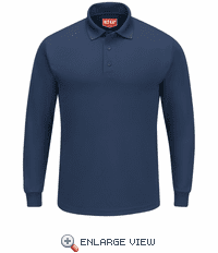 SK6LNV Men's Navy Long Sleeve Performance Knit® Polo