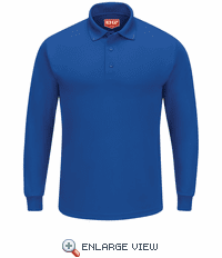 SK6LRB Men's Royal Blue Long Sleeve Performance Knit® Polo