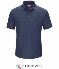 SK74NV  Men's Navy Short Sleeve Performance Knit® Gripper-Front Polo