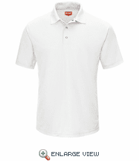 SK74WH Men's White Short Sleeve Performance Knit® Gripper-Front Polo