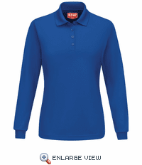 SK7LRB Women's Royal Blue Long Sleeve Performance Knit® Polo