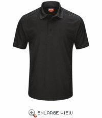 SK96BK Men's Black Short Sleeve Performance Knit® Pocketless Core Polo