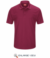 SK96BU Men's Burgandy Short Sleeve Performance Knit® Pocketless Core Polo
