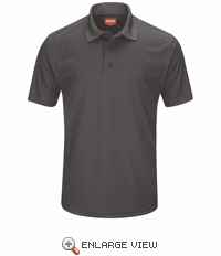 SK96CH Men's Charcoal Short Sleeve Performance Knit® Pocketless Core Polo