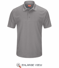 SK96GY Men's Grey Short Sleeve Performance Knit® Pocketless Core Polo