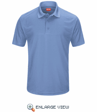 SK96MB Men's Medium Blue Short Sleeve Performance Knit® Pocketless Core Polo